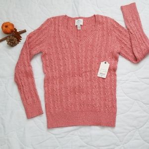 St. John's Bay Cable Knit Vneck Sweater